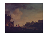 Ruins Near the Mouth of a River, 1748 Giclee Print by Claude Joseph Vernet