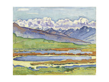 Landscape at Montana Giclee Print by Ferdinand Hodler