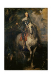 Equestrian Portrait of Charles I (Charles I on Horsebac) Giclee Print by Anthonis van Dyck