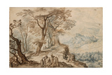 Landscape with Tobias and the Angel Giclee Print by Jan Brueghel the Younger