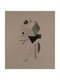 Strong Guy. Figurine for the Opera Victory over the Sun by A. Kruchenykh, 1920-1921 Giclée-trykk av El Lissitzky