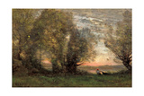 The Fisherman, Evening Effect, Ca 1860-1870 Giclee Print by Jean-Baptiste Camille Corot
