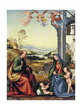 The Holy Family with John the Baptist Giclée-tryk af Fra Bartolommeo