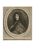 Portrait of the Composer Jean-Henri D'Anglebert (1629-169), 1689 Giclee Print by Pierre Mignard