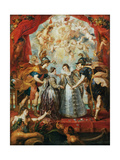 The Exchange of the Princesses at the Spanish Border Giclee Print by Peter Paul Rubens