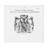 The Coat of Arms of the Orlov House Giclee Print