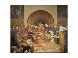 The Bulgarian Tsar Simeon (The Cycle the Slav Epi) Giclee Print by Alphonse Mucha