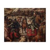 Defeat of the Venetians in Casentino, 1563-1565 Giclée-Druck von Giorgio Vasari