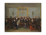 Epic Chess Match Between Pierre Saint Amant and Howard Staunton in 1843 Giclee Print by Jean Henri Marlet