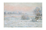Winter Sun at Lavacourt Giclee Print by Claude Monet