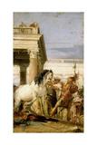 Alexander Taming Bucephalus Giclee Print by Giambattista Tiepolo