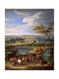 View of the City and Palace of Versailles, as Seen from the Montbauron Hill Giclee Print by Jean-Baptiste Martin