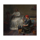 Leonora Christina in the Blue Tower, Cooking Porridge Giclee Print by Kristian Zahrtmann