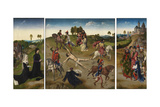Martyrdom of Saint Hippolytus (Triptyc), after 1468 Giclee Print by Hugo van der Goes