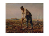 Man with a Hoe, 1860-1861 Giclee Print by Jean-François Millet