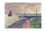 Entrance to the Port of Volendam Gicléetryck av Théo van Rysselberghe