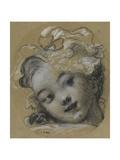 Girl with Bonnet Reproduction procédé giclée par Jean-Honoré Fragonard