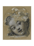 Girl with Bonnet Giclee Print by Jean-Honoré Fragonard