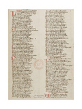 Ménagier De Paris, a Manuscript Page, 1393 Giclee Print