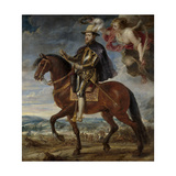 Portrait of Philip II (1527-159) on Horseback, 1628 Giclee Print by Pieter Paul Rubens