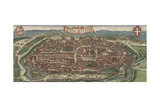 Bird's-Eye View of Vienna from North, 1609 Giclee Print by Jacob Hoefnagel