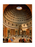 Interior of the Pantheon, Rome Giclee Print by Giovanni Paolo Panini