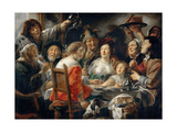 The King Drinks, or Family Meal on the Feast of Epiphany Giclee Print by Jacob Jordaens