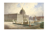 The Berliner Stadtschloss. View of the Palace Facade from the Palace Bridge, 1886 Giclee Print by Hermann Ziller