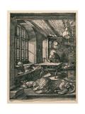 Saint Jerome in His Cell Giclée-tryk af Albrecht Dürer