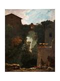 Les Cascatelles De Tivoli (Cascatelle Grandi in Tivol) Reproduction procédé giclée par Jean-Honoré Fragonard