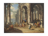 Christ Driving the Money Changers from the Temple Giclee Print by Giovanni Paolo Panini