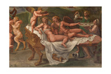 Wedding Feast of Cupid and Psyche, Detail Giclee Print by Giulio Romano