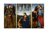 Three Panels from an Altarpiece, Certosa, C. 1500 Giclee Print by  Perugino