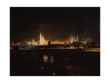 Illumination of the Moscow Kremlin, 1883 Giclee Print by Oskar Adolfovich Hofman