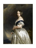 Portrait of Queen Victoria Giclee Print by Franz Xavier Winterhalter