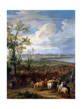 The Siege of Ypres, March 1678 Giclee Print by Adam Frans van der Meulen