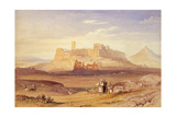 View of Athens with the Acropolis and the Odeon of Herodes Atticus, First Quarter of 19th C Giclee Print by William Purser