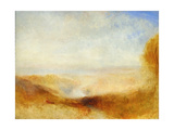 Landscape with a River and a Bay in the Background Stampa giclée di Joseph Mallord William Turner