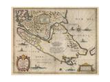 Freti Magellanici Ac Novi Freti Vulgo Le Maire Exactissima Delineatio, C.1630 Giclee Print by Jodocus Hondius