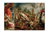 The Elevation of the Cross (Sketch for the Triptyc) Giclee Print by Pieter Paul Rubens