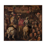 Triumph of the War Against Siena, 1563-1565 Giclée-Druck von Giorgio Vasari