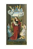 The Virgin and Child Between Angels Giclee Print
