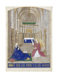 The Annunciation (Hours of Étienne Chevalie) Giclee Print by Jean Fouquet
