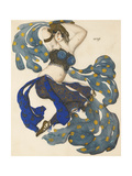 Odalisque, Costume Design for the Ballet Sheherazade by N. Rimsky-Korsakov Giclee Print by Léon Bakst