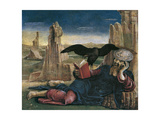 Saint John the Evangelist on Patmos Giclee Print by Cosimo Tura