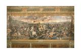 The Battle of the Milvian Bridge, 1517-1524 Giclee Print by Gianfrancesco Penni