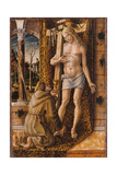 Saint Francis Catches the Blood of Christ from the Wounds, 1480-1490 Giclee Print by Carlo Crivelli