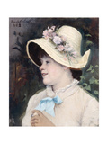 Parisian Woman (Portrait of Irm), 1882 Giclee Print by Maria Konstantinovna Bashkirtseva