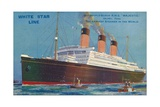 Quadruple-Screw R.M.S Majestic of the White Star Line, C1920S Giclee Print