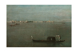 Gondolas on the Lagoon (Grey Lagoo), 1765 Giclee Print by Francesco Guardi